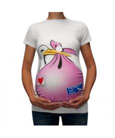 Těhotenské tričko s čápem