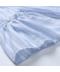 Těhotenská světle modrá halenka s volánkem