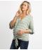 Těhotenská propínací halenka s uzlem