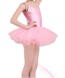 Lesklý baletní dívčí tutu dres