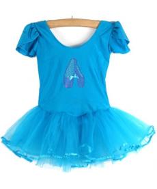 Baletní trikot s rukávky s obrázkem baletních bot