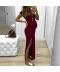 Dlouhé těhotenské šaty s rozparkem