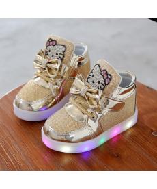 Dětské svítící botasky Hello Kitty
