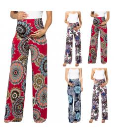 Volné těhotenské barevné kalhoty