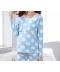 Těhotenský pyžamový set s dlouhými kalhotami