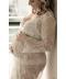 Těhotenský krajkový župan na těhu focení
