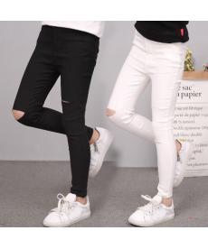 Dívčí kalhoty s dírami
