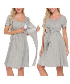 Těhotenské a kojící šaty se zavazováním pod prsy