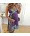 Letní těhotenské šaty s ornamenty