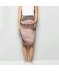 Těhotenská pruhovaná 3/4 sukně