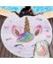 Kulatá plážová osuška Unicorn