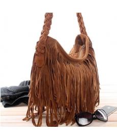 Dámská kabelka s třásněmi z umělé kůže