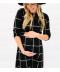 Černé 3/4 těhotenské dámské kostkované šaty