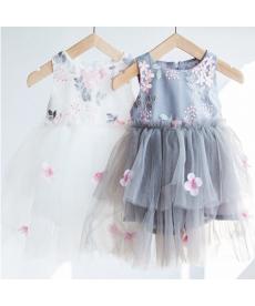 Slavnostní dívčí šaty s květinami a tylovou sukní
