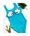 Jednodílné dámské plavky s ručkami na prsou