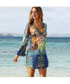 Lehké barevné plážové pareo