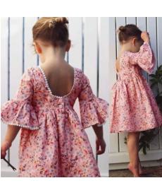 Dětské květinové romantické šaty s volánky