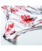 Květinové jednodílné těhotenské plavky s volánem