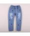 Dětské džíny s aplikací třešní