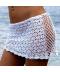 Háčkovaná bílá sukně na plavky
