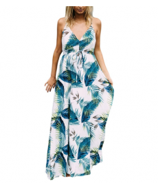 Dlouhé letní těhotenské šaty s motivem tropical