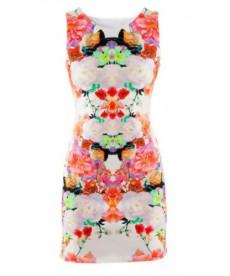 Květované mini šaty