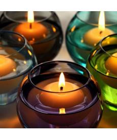 Sada 10 ks plovoucích svíček