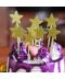 Sada 10 ks dekoračních třpytivých hvězdiček