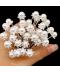 Sada 20 ks dekoračních perliček na svatební účes