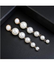 Dlouhé perlové náušnice