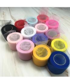 Úzká dekorační barevná organza