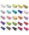 Úzká dekorační barevná organza s glitry - 15 cm
