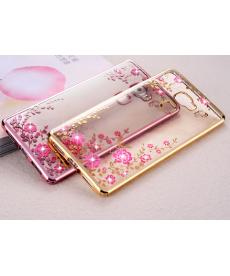 Silikonový průhledný kryt s květinami pro Honor P20