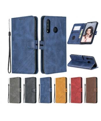 Kožený magnetický flip kryt pro telefon Huawei P30