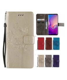 Kožený magnetický flip kryt zdobený obrázkem stromu na Huawei Honor 10