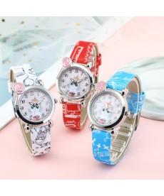 Analogové dětské hodinky - medvídek