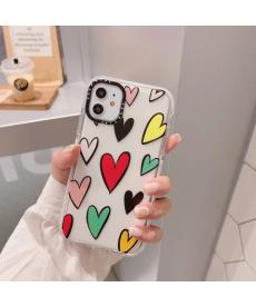 Kryt na mobilní telefon Iphone 11 s barevnými srdíčky