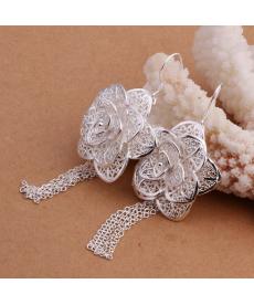 Svatební náušnice - květy