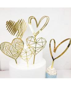 Dekorativní zlaté srdce