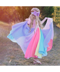 Dívčí maxi šaty RAINBOW