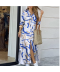 Letní splývavé lehké šaty na knoflíčky dlouhý rukáv