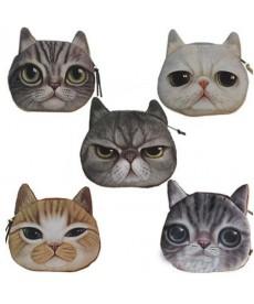 Mini peněženka kočka
