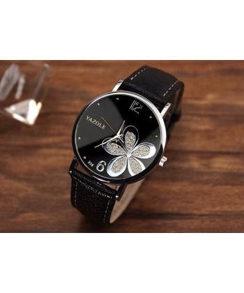 Dámské elegantní hodinky s květinou