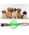 Bavlněný provaz pro psy se silikonovým kousátkem