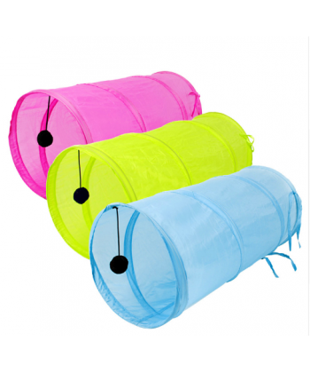 Tunel pro kočky tří barev
