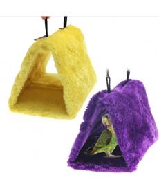 Plyšová budka pro papoušky