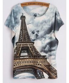 Dámské tričko Eiffelova věž