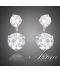 Náušnice s bílými krystaly