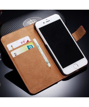 Kožený flipový obal pro iPhone 7 plus