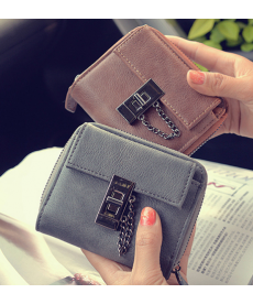Kožená elegantní peněženka tří barev